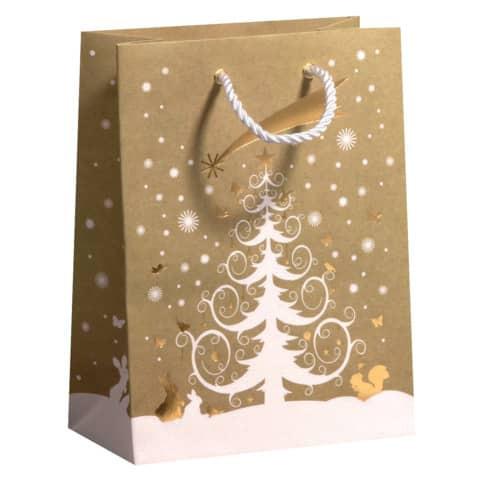 Weihnachtstüte Kraftpapier natur