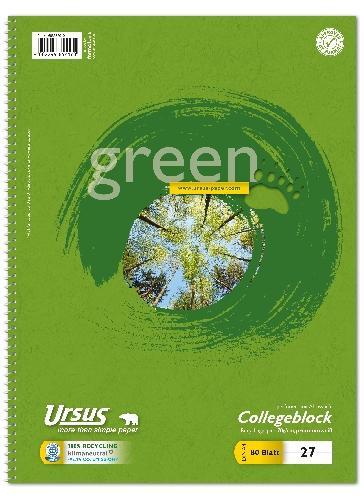 Collegeblock Lineatur 27 A4 mit Rand