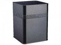 DURABLE Papierkorb Metall eckig schwarz