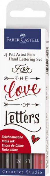 Faber-Castell Tuschestift Pitt Artist Pen Lettering 4er Etui