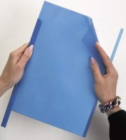 DURABLE Klemmschiene A4 30 Blatt blau