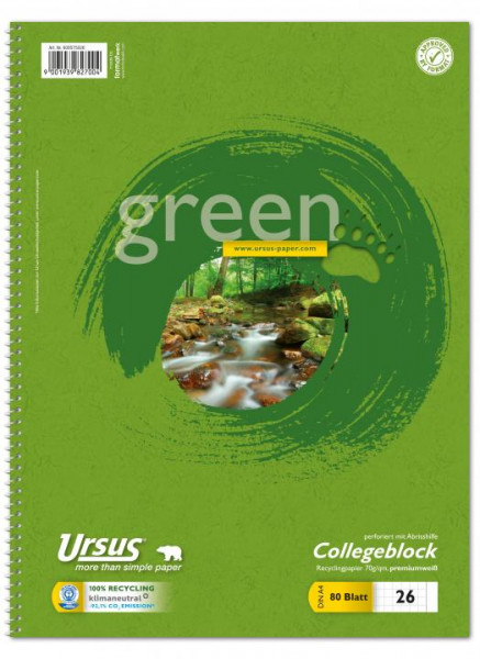 608575026-Green-Collegeblock-A4-Pure-Impact-kariert-mit-Rand
