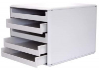 Schubladenbox hellgrau mit 5 Schubladen
