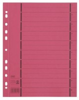 Trennblätter A4 mit Ãœberbreite rot 100 Stück