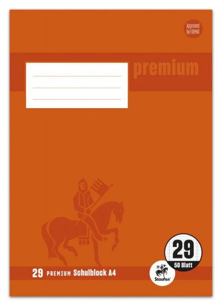 Staufen Premium Schulblock A4 Lineatur 29