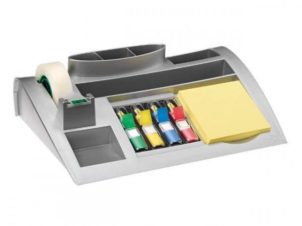 Schreibtischorganizer silber metallic gefüllt
