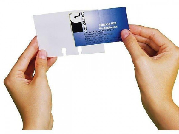 DURABLE Visitenkarten-Ersatzhüllen für Karten 104 x 72 mm transparent
