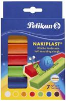 561153-Pelikan-Nakiplast-Knete-mit-Bienenwachs-125g-7-Farben