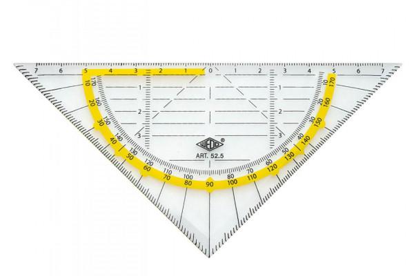 Wedo Geometriedreieck 16cm transparent