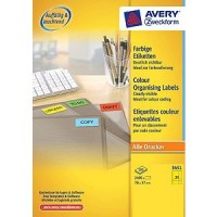 Zweckform 3451 Farbige Etiketten gelb