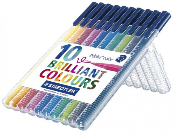 Staedtler Fasermaler triplus 10 Farben