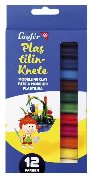 Läufer Plastilin Knete 12 Farben