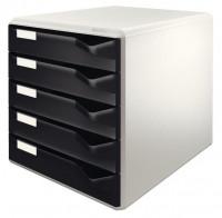 LEITZ Schubladenbox 5 Schubladen schwarz