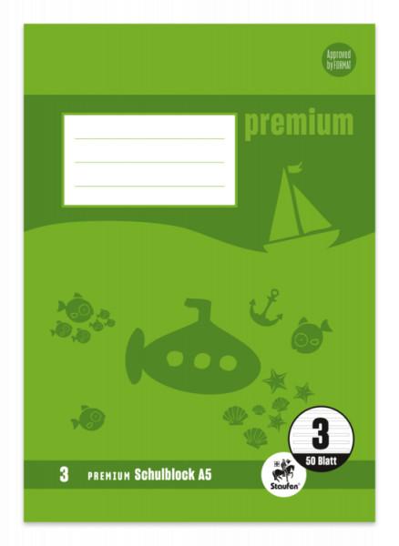 Staufen Premium Schulblock A5 für die 3.Klasse