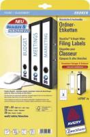 Zweckform Ordner Etiketten L4759-25 weiss