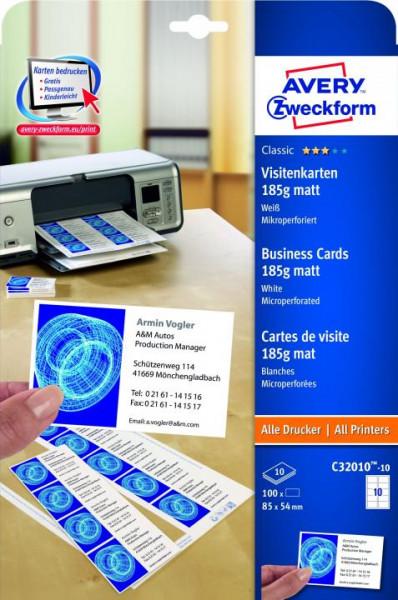 602299-Zweckform-C32010-10-Classic-Visitenkarten-85-x-54-mm-