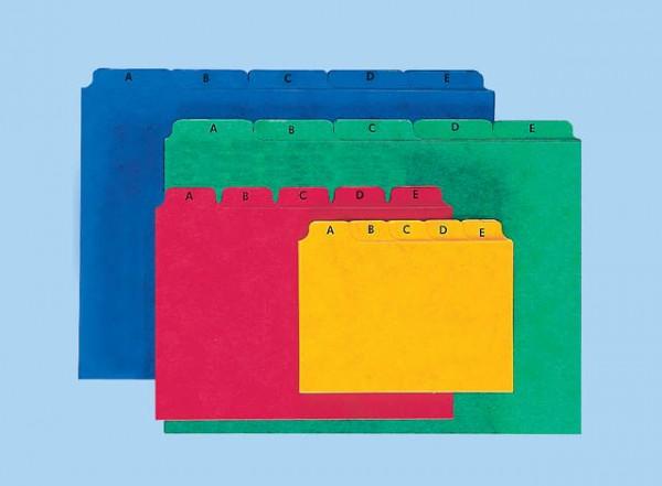 Kartei Leitregister A5 quer blau