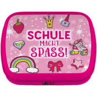 Mintdose Schule macht Spass pink