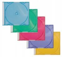 CD/DVD Leerhüllen farblich sortiert