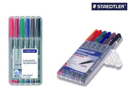 Staedtler Folienstift Lumocolor Etui mit 6 Farben