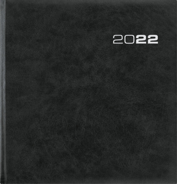 Zettler Buchkalender 2022 1 Woche 2 Seiten schwarz