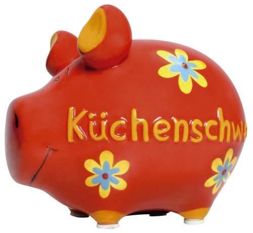 Spardose klein rot Küchenschwein