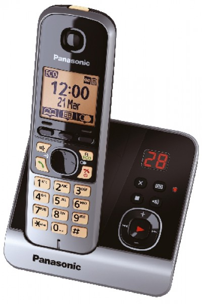 Panasonic schnurloses Telefon mit Anrufbeantworter KX-TG6721GB